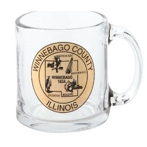 13 Oz. Glass Coffee Mug